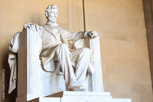 Abraham Lincoln monument in Washington Poster