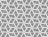 black and white geometry line seamless pattern. vector illustrat