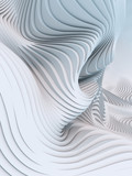 Fototapety Abstract 3d rendering wavy band background surface
