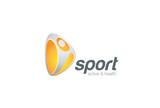 Sport Fitness active Logo emblem character design vector