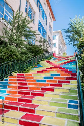 Les Escaliers colorées Rue Prunelle à la Croix-Rousse - 111022712
