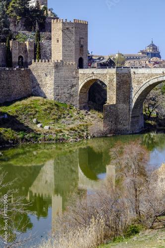 Zdjęcia na płótnie, fototapety, obrazy : Alcantara Bridge, over the river Tage, Toledo