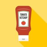 Vector tomato ketchup icon, flat design