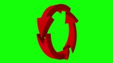 Animated Arrows. Arrows on green screen. Loop