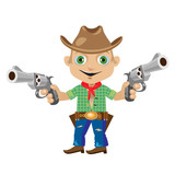 Man with two guns in wild West style