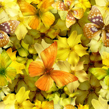 flowers seamless gold