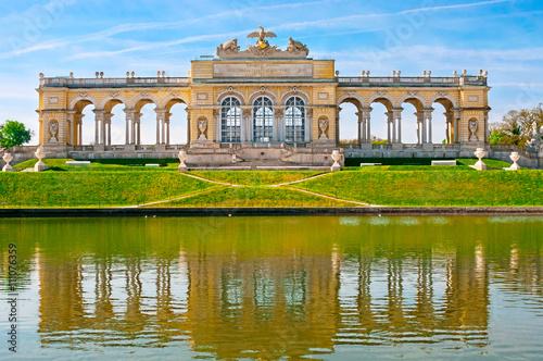 Tuinposter Wenen View on Gloriette monument in Schonbrunn Palace, Vienna, Austria