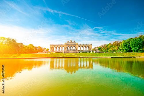 Deurstickers Wenen View on Gloriette monument against blue sky in Schonbrunn Palace