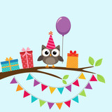 Party owl card