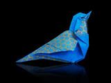 Origami blue bird