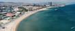 Barcelona beach aerial view