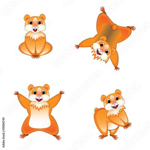 Poster Pony favorite hamster set, sprites,meme, vector illustration on white background
