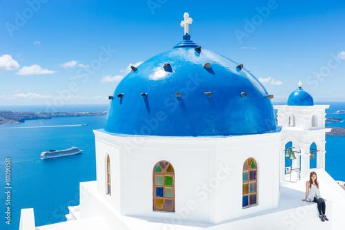 Fototapety, obrazy : Landscape Santorini Island, Cyclades, Greece