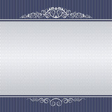 Template for certificate, banner with decorative patterns and background. Shades of gray and blue.