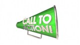Call to Action Bullhorn Megaphone Message Words 3d Animation