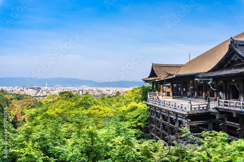 Deurstickers Kyoto 京都 世界遺産 清水寺