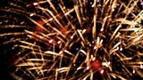 beautiful bright flashes of fireworks in sky  /  beautiful bright flashes of fireworks in the night sky, concept of holiday