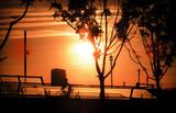Sunset at Riverside in Zaragoza Expo