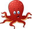 Cartoon smiling octopus - 111134544
