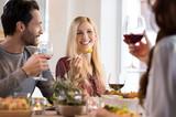 Friends eating together - 111136950
