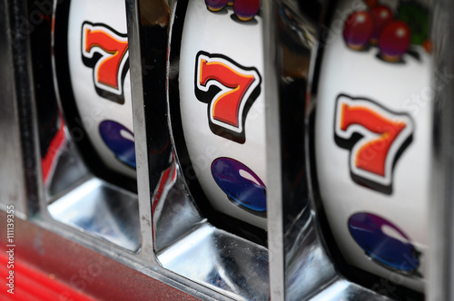 Poster Slot machine and jackpot