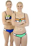 Frauen tragen Bikini für Wassersport, Schwimmen oder Sonnenbad