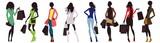 fashion women and shopping bags - 111152184