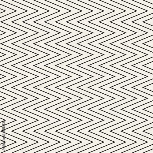 Fototapeta Seamless monochrome wavy stripes pattern