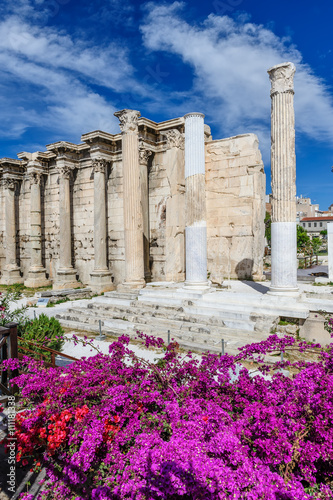 Hadrian's Library ruins in Athens, Greece