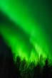 Diagonal green aurora