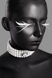 high fashion beauty style. face art.