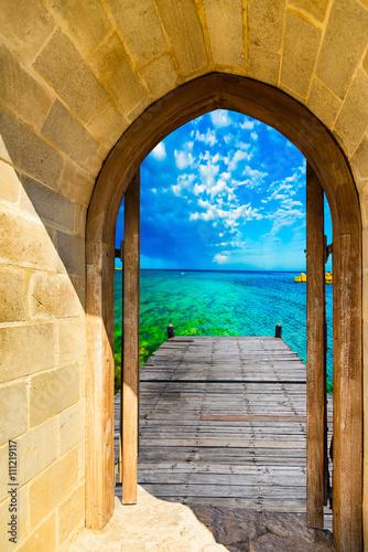 Fototapeta arch open door fortress