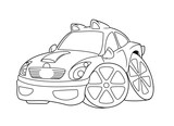 Car coloring pages Cartoon isolated image illustration