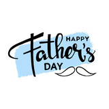 Happy fathers day hand drawn lettering