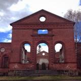 Кирха старинная лютеранская, город Лахденпохья, Карелия.