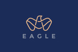 Eagle Logo abstract design vector Linear Bird Falcon Hawk Luxury