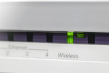 ADSL modem with wireless indicator