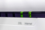 ADSL modem connected to the internet