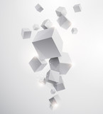 Fototapety Abstract white background with geometric elements