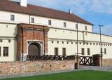Spilberk castle in Brno, Czech Republic with a wooden bridge