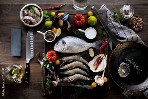 Poster Meeresfrüchte und Fisch