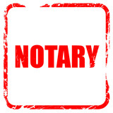 notary, red rubber stamp with grunge edges