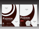 fashion flyer template design