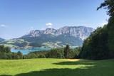 Blick auf Attersee, Alpen Österreich