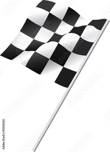 Poster Waving Checkered Flag