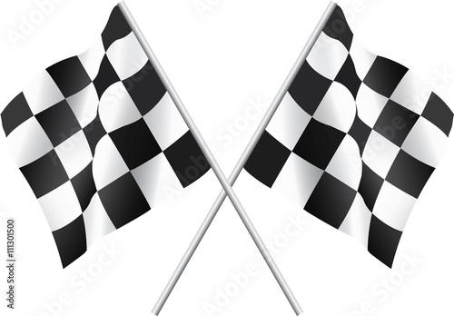 Naklejka Waving Checkered Flags