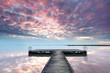 Sonnenaufgang am Steg am Neusiedler See