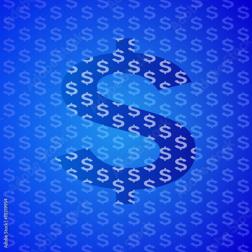 Fototapeta abstract blue business science and technology