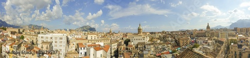 Keuken foto achterwand Palermo foto panoramica della città di Palermo