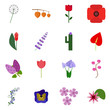 Icon flower. Vector floret